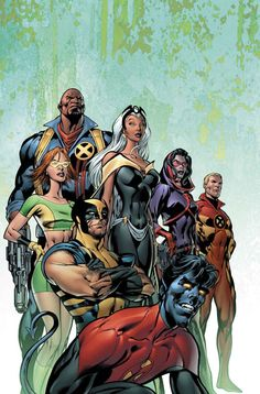 This is the cover for Uncanny X-Men #445, drawn by Alan Davis. I do love Alan's group covers.