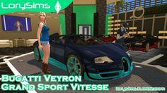 Bugatti Veyron Grand Sport Vitesse at LorySims • Sims 4 Updates