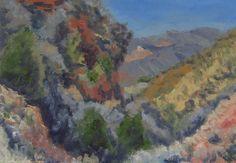 8.5X5.5 Kolob Canyon. Oil on paper.