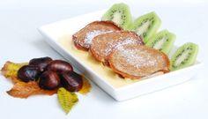 Frittelle di castagne su crema di zabaione