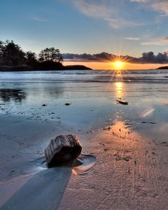 Chesterman Beach, Pacific Rim National Park Reserve, Tofino, British Columbia, Canada **Photo pinned by Western Sage and KB Honey (aka Kidd Bros) Vancouver Island, Sunshine Coast, British Columbia, Beach Wood, Visit Canada, Victoria, Pacific Rim, Canada Travel, Strand