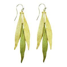 Michael Michaud Weeping Willow Long Leaf Earrings