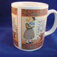 Mary Engelbreit Coffee Cup Mug Earth Environmental 1992 Revelations 7