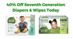 Amazon:+40%+Off+Seventh+Generation+Diapers+and+Wipes+Today!
