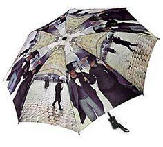Free U.S. Shipping - Auto open - close compact Rainy Day in Paris Umbrella $24.95 at ArtistGifts.com