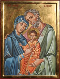 The Holy Family - Aidan Hart Sacred Icons