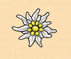 Stickmuster  Edelweiss-Blüte4  in zwei Größen von pullivers auf Etsy