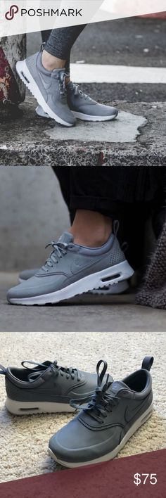Women's Nike Air Max Thea - Stealth Grey, Sz 6 Women's Nike Air Max Thea - Stealth Grey, Sz 6. Worn once. Great condition! Nike Shoes Sneakers