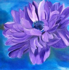 ANEMONE  PAINTINGoil paintingflower von oilpaintingflowers auf Etsy