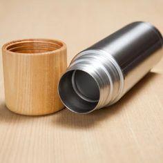 コップ付き魔法瓶 tsutsu Wood Cup