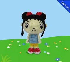 Kai Lan Amigurumi doll by Amigurumi by K and J Dolls, via Flickr