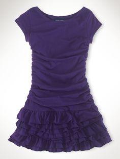 Ruched Ruffle Dress - Girls 2-6X Dresses & Rompers - RalphLauren.com