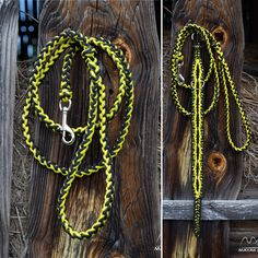 reflexive paracord dog leash, adjustable paracord dog collar