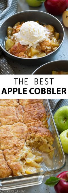 Apple Cobbler – this is a MUST HAVE fall dessert! Juicy sweet apple filling topp… Apple Cobbler – this is a MUST HAVE fall dessert! Juicy sweet apple filling topped with a tender buttery, cake-like cinnamon coated topping. Desserts Keto, Apple Dessert Recipes, Fall Desserts, Apple Recipes, Fall Recipes, Recipes Dinner, Bread Recipes, Dessert Party, Dessert Oreo