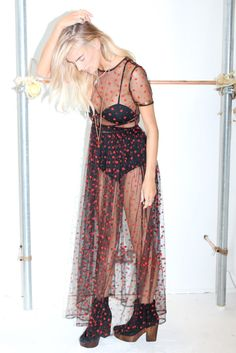 Billy Frock...Sheer maxi dress, AW15
