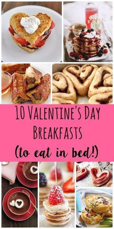 I would welcome any of these Valentine's Day breakfast in bed options! :) Cute ideas for Valentine's Day brunch.