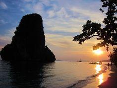 Phra Nga Beach, Thailand (at sunset)