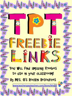 "FREE MISC. LESSON - ""Hundreds of Freebies for Your Classroom"" - Go to The Best of Teacher Entrepreneurs for this and hundreds of free lessons.  http://thebestofteacherentrepreneurs.blogspot.com/2012/09/free-misc-lesson-hundreds-of-freebies.html"