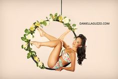 aerial hoop- love the flowers (dont think they are too practical though- would make it slippery!)
