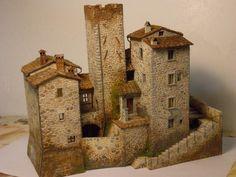 me ~ Luciano Lepri - Il plastico Minecraft Medieval, Minecraft Castle, Fantasy Castle, Fantasy House, Miniature Crafts, Miniature Houses, Castillo Feudal, Toy Castle, Small Castles