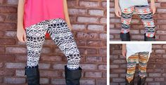 I Love printed leggings ❤ Trendy Fashion, Winter Fashion, Fashion Outfits, Print Leggings, Navy Pink, Red And Grey, Swim Wear, Leggings Fashion, What To Wear