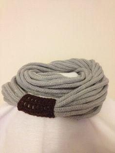 SCARF wool chain necklace  Infinity Eternity Scarf by NesrinArt, $25.00