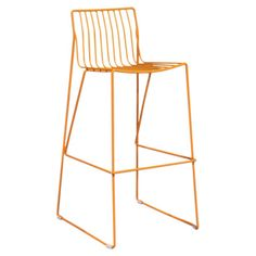 Showcasing an openwork metal design and orange finish, this stylish stool adds a modern touch to your kitchen island or home bar.  P...