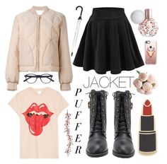 """""""Play wiff Puffer Jacket"""" by itsmenay on Polyvore featuring See by Chloé, MadeWorn, Georgia Perry, Casetify and Kate Spade"""