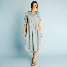 Lyman Dyed Dress - Sage