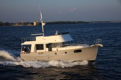 Beneteau Swift 44: Even at planing speeds, the 44 handles like a lady, responding quickly to the helm to side-step pots. At close quarters she's even better… able to be docked, and secured, single-handed.