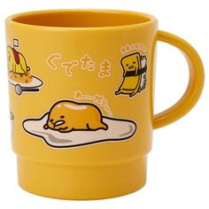Sanrio Japan Gudetama Cup Mug - Free Style Eggs