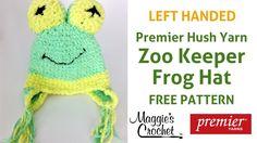 Zoo Keeper Frog Hat Free Crochet Pattern - Left Handed