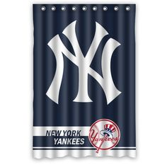 Best Home Choice MLB New York Yankees Polyester Bathroom Waterproof Shower Curtain 48W