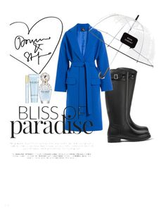 """""""Saturday's BLUEs"""" by anja-3 on Polyvore featuring Yves Saint Laurent, Alexander McQueen, Kate Spade, Marc Jacobs, Boots, rainyday and bluecoat"""