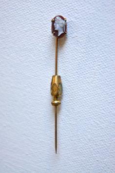 Vintage Cameo Tie Pin Brooch