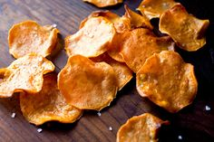NYT Cooking: If you deep-fry properly — allowing the oil to reach 360 to 375 degrees, letting it return to high temperature between batched, and not crowding the pan with items — your food will not absorb much of the oil. I find it easiest to make these addictive chips in a wok or a deep-fryer. The contrast of toasty and sweet flavors is delightful. I use a Japanese slicer to get uniform, paper-thin slices. Seek out organic oils.