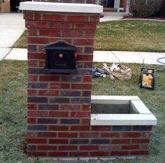 #brick #mailbox DIY. Do I dare?  It doesn't look to hard.