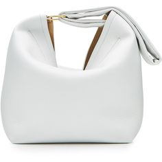 Victoria Beckham Leather Pouch Bag ($1,465) ❤ liked on Polyvore featuring bags, handbags, white, victoria beckham, leather handbags, white leather purse, genuine leather purse and wristlet purse