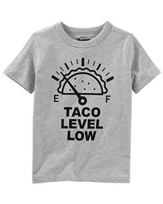 One style fits all! This taco tee is perfect for all your OshKosh kids, and can be paired with just about anything!