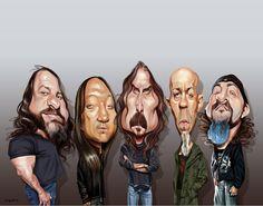 Dream Theater - John Myung, John Petrucci, James LaBrie, Jordan Rudess, Mike Mangini by Sebastian Cast