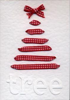 Ribbon Christmas Tree Card