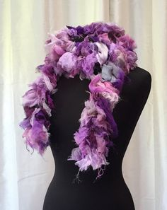 Bodacious Orchid Pink  Hand Dyed Silk Boa Unique by Joyflower   Turns fashion accents into fashion statements. Bodacious shades of bright rich purple with hints of sophisticated pink.