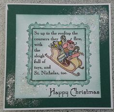 Christmas in August using Twas the night stamps.