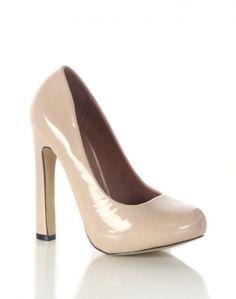 #chiarafashion Nude Patent High Heel Shoes  £21.00