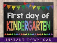 INSTANT DOWNLOAD First Day of School Sign Back to by HouseofHays