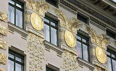 Jugendstil, Façade of the Wienzeilenhaus, Vienna, Otto Wagner   /   BP