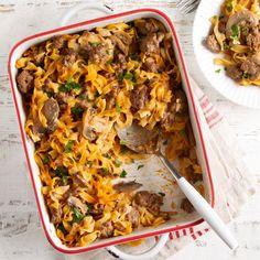 Easy Casserole Recipes, Pasta Recipes, New Recipes, Cooking Recipes, Burger Recipes, Ground Beef Recipes For Dinner, Dinner With Ground Beef, Dinner Recipes