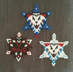 Perler Snow flake with inspiration from Linköping HC and Vidingsjö MOIF for Christmas gifts