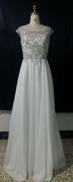 There is a beaded cap sleeve evening gown produced by Darius Cordell Fashion Ltd that you need to consider. The empire waist design flatters most figures. Chiffon Evening Dresses, Formal Evening Dresses, Evening Gowns, Pregnant Wedding Dress, Maternity Wedding, Beaded Wedding Gowns, Couture Looks, Mother Of The Bride Gown, Plus Size Wedding