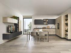 Varianti per Veneta Cucine #Living MARRONE VISONE e GRIGIO CORDA ...